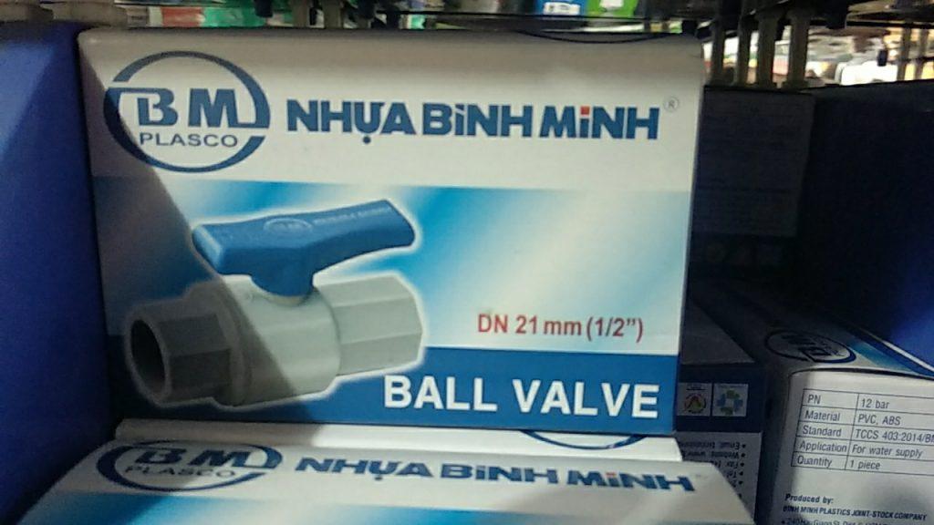 Van nhựa PVC phi 21, 27, 34 Bình Minh